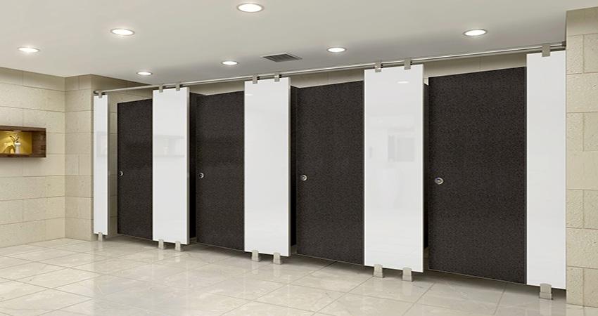 Vách ngăn vệ sinh nhà thi đấu nên chọn loại nào kích thước bao nhiêu?