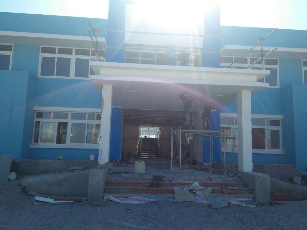 Công trình đang xây của khu công nghiệp Dung Quất