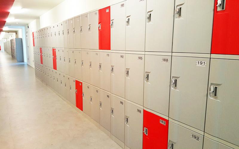 Không gian đặt tủ locker ở Đà Nẵng