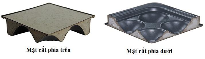 Mặt sàn nâng phủ sắt sơn tĩnh điện